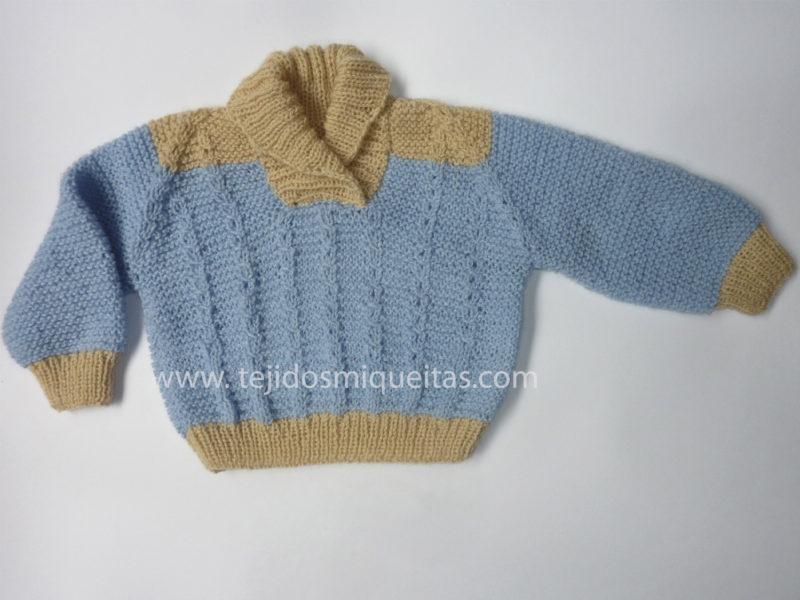 Tejidos Miqueitas | Para un bebé de 3 meses con cuello cruzado