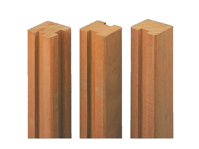 poteau bois exotique en u ou h bangkirai 2 40 m tekabois