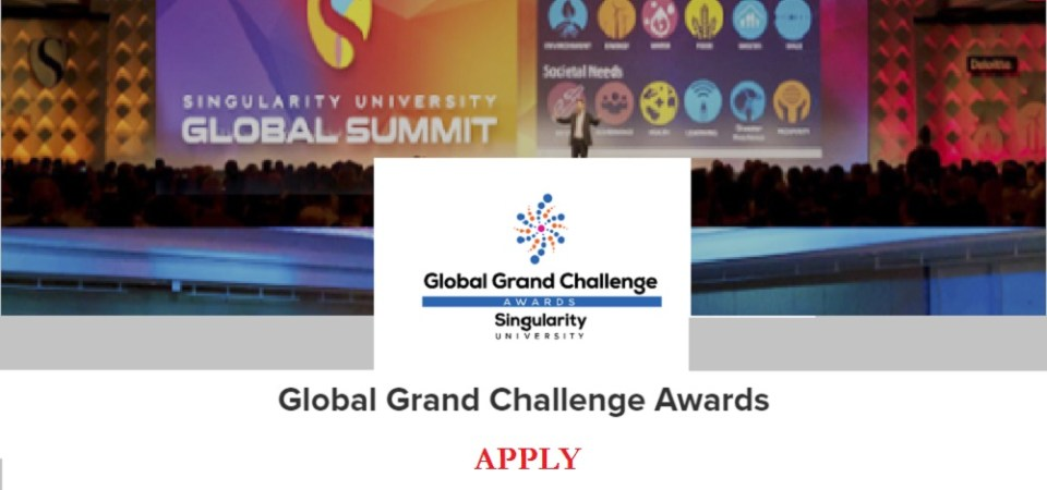 Singularity University Global Grand Challenge Accepting 2017 Applications: Zenvus Recommends