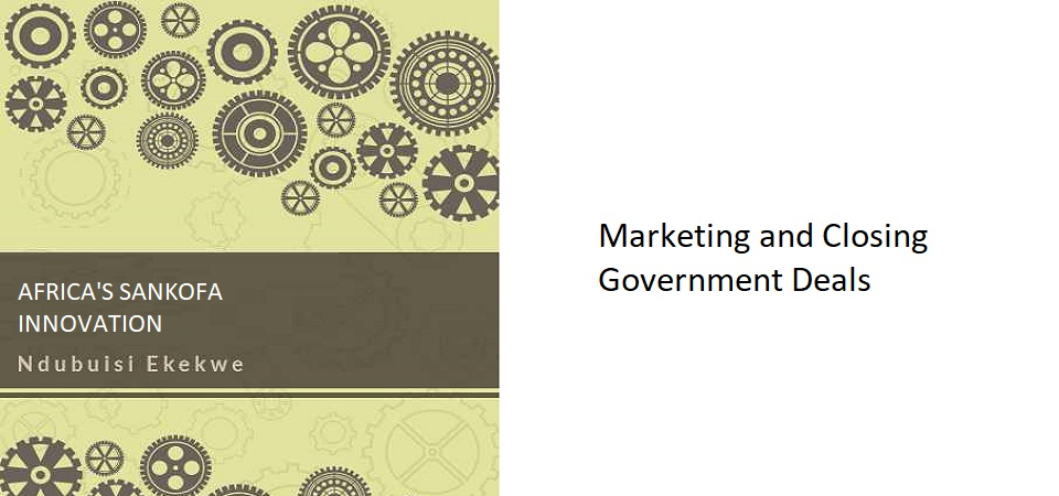 12.5 – Marketing and Closing Government Deals