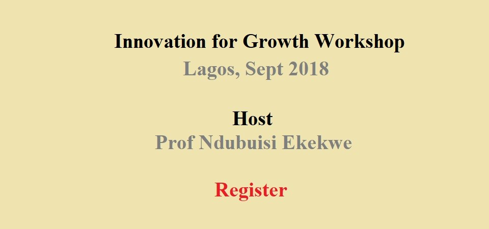 Discount Coupon for DAX Innovation Growth Workshop – Sept 28, Lagos