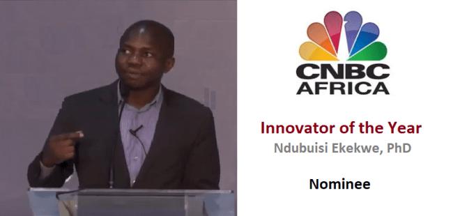 Ndubuisi Ekekwe Innovator of the Year CNBC