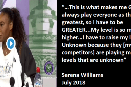 """""""I always Play everyone as the Greatest, so I have to be GREATER"""" Serena Williams [video]"""