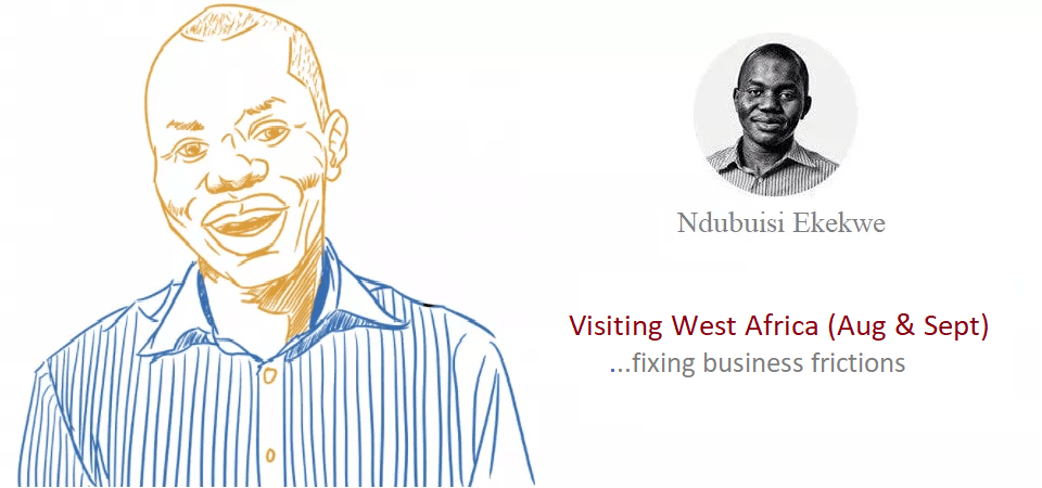 Let's Visit Your Business in August & Sept in West Africa