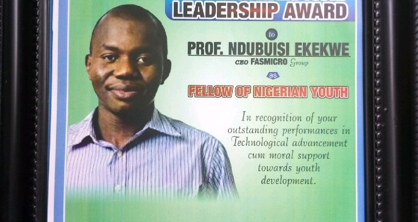My National Youth Council Of Nigeria (NYCN)'s Outstanding Leadership Award
