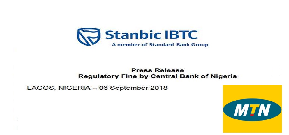 Central Bank of Nigeria Debits Stanbic IBTC Bank $5.2M for Helping MTN on Repatriation