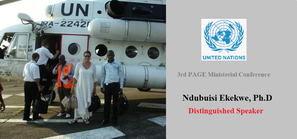 Confirmed As Distinguished Speaker for United Nations 3rd PAGE Ministerial Conference