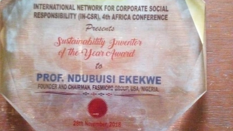 "Zenvus Receives ""Sustainability Inventor of the Year"" Award"
