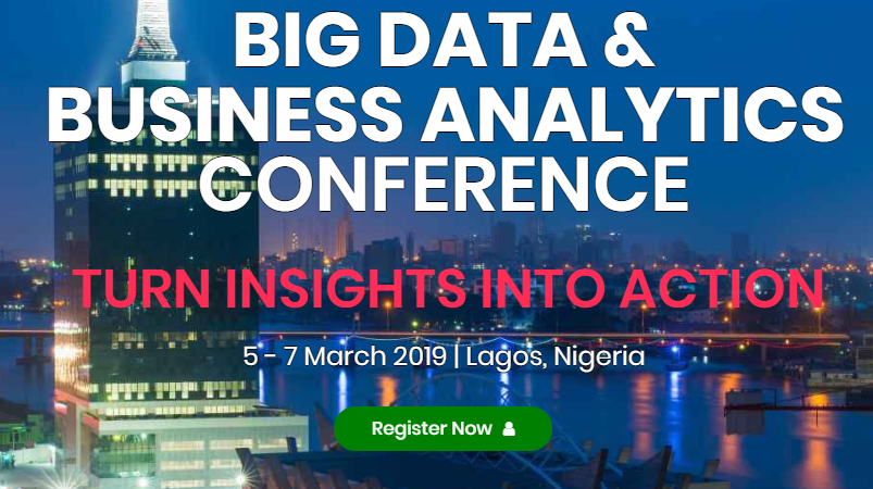 18+ Speakers Line up for Big Data and Business Analytics Conference 2019 in Lagos