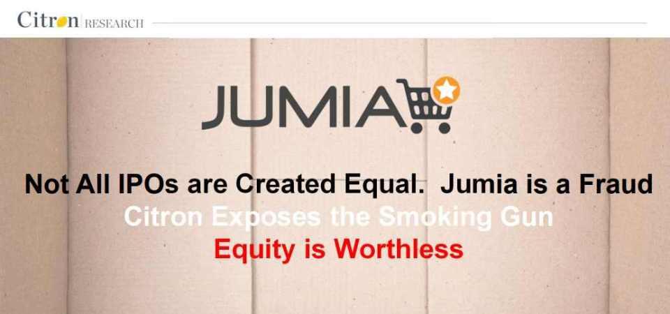 "Citron Research Calls Jumia a ""Fraud"", Stock Drops [Download the Report]"