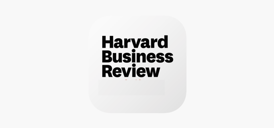 New Article Coming Next Week in Harvard Business Review