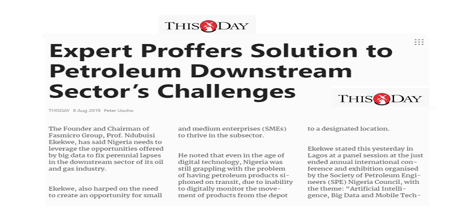 How Nigeria Can Prevent Fuel Diversion – ThisDay Report of My Perspectives