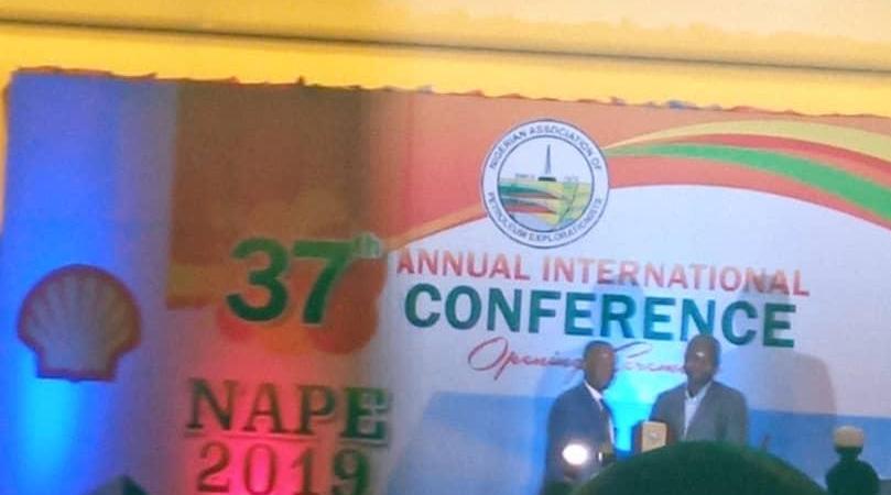 My Award from Nigeria's Petroleum Explorationists