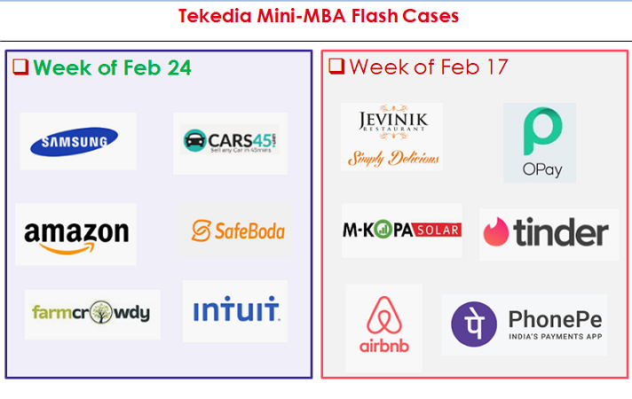 Flash Cases for Week 3 – Tekedia Mini-MBA
