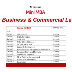 Tekedia Mini-MBA Business & Commerce Law Session