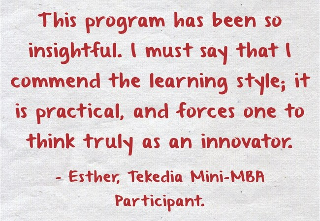 """This program has been so insightful"" – Tekedia Mini-MBA Testimonial"