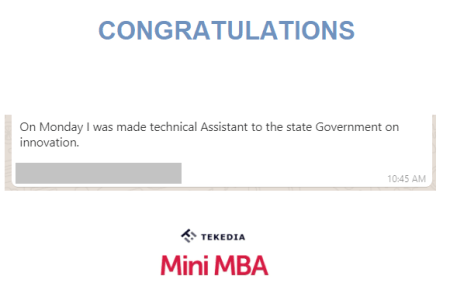 Congratulations Member for Your State Appointment