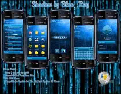 Shadow - Tema: Shadow para celulares Symbian/Nokia