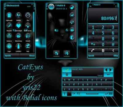 CatEyes - TEMA: Cat Eyes para celulares Nokia e Symbian