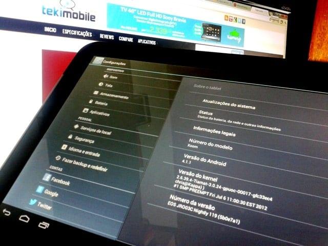 Motorola XOOM Android Jeally Bean