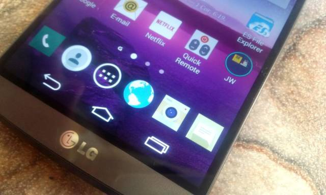 review LG G3 - icones