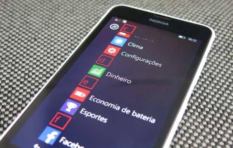 review lumia 630 - tela