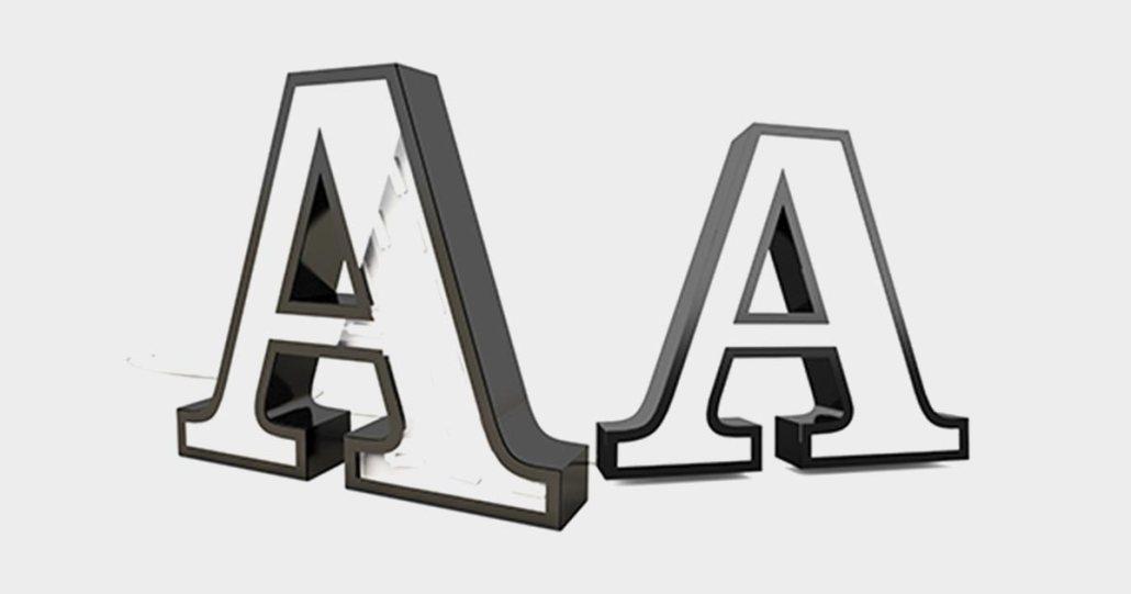 Aluminum Sign Letters