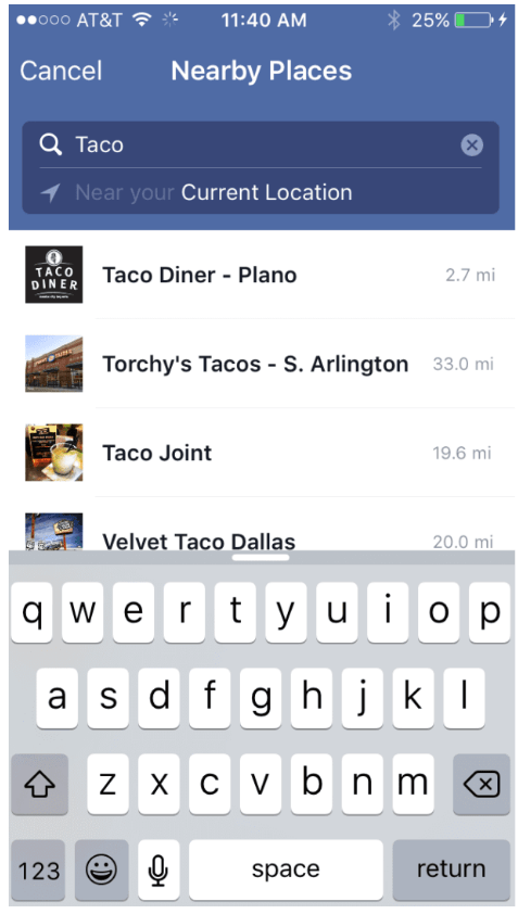 Social Media as a Search Tool - Facebook Search Weak on Location