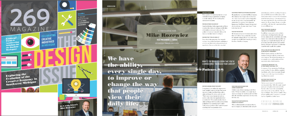 269 Magazine's Design Issue - Mike Rozewicz - Product Development