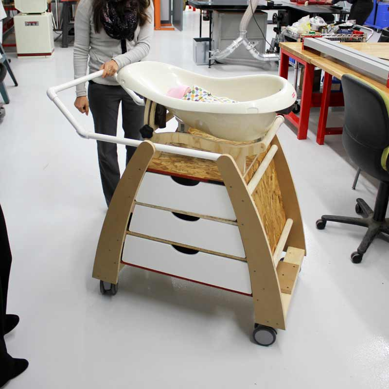 Nara Bassinet wooden prototype