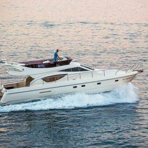Ferretti 460, Year: 2007 Length: 14,35 m Cabins: 3 Berths: 6 WC: 2 Base: Split, Hrvatska Period: 06