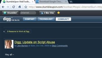 Stumbleupon New Home Page
