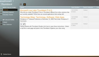 Thumbtack bookmarking app from live labs microsoft