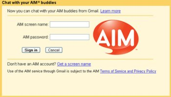 AIM chat in gmail