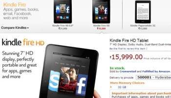 Kindle Fire HD available through Amazon.in