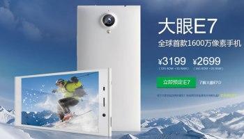 Gionee Elife E7 Smartphone Announced