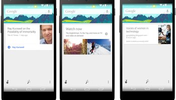Google Now gets New Cards