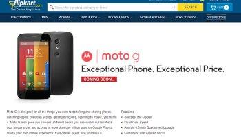 Flipkart listed Moto G