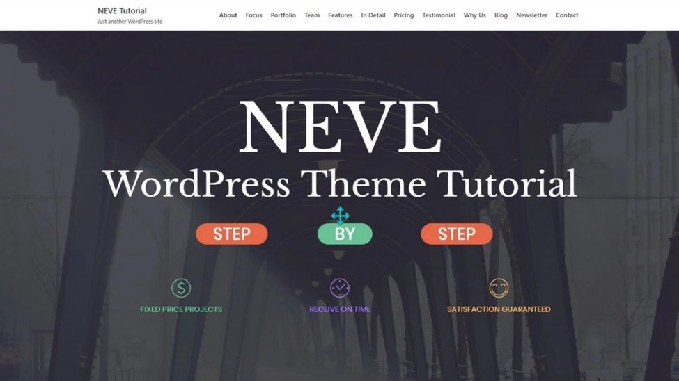 Wordpress For Beginners Neve WordPress Theme Tutorial How To