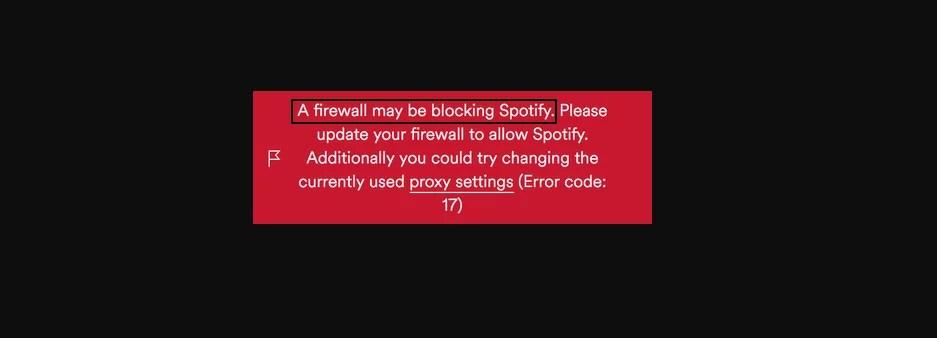 Güvenlik Duvarı Spotify'ı Engelliyor Olabilir