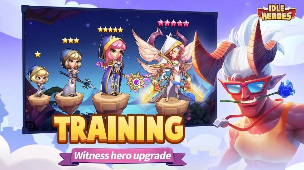 Idle Heroes screen 1