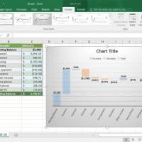 Gambar Cara membuat grafik Waterfall Chart, Cara Membuat Bagan atau Grafik Waterfall di Excel 2016