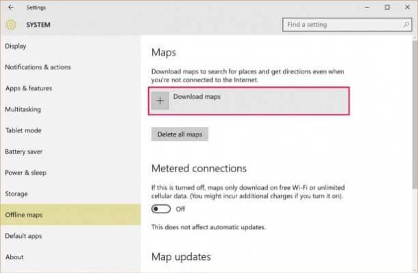 Gambar, Cara Menggunakan Maps Offline di Windows 10, Cara ini adalah untuk menggunakan Maps pada Windows 10 dengan tanpa menggunakan internet, Serta maps bisa di Update untuk pembaharuan setiap terkoneksi ke internet. Memudahkan Anda untuk bisa membuka maps untuk melihat lokasi meski di tempat yang tidak ada jangkauan jaringan