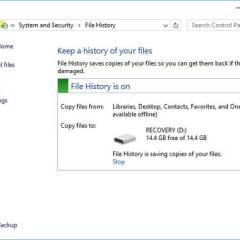 Dapat mengembalikan File data Anda yang terlah terhapus di Windows 10 atau Windows 8. Cara setting pengaturan history file, dan cara mengembalikan file dengan file history.