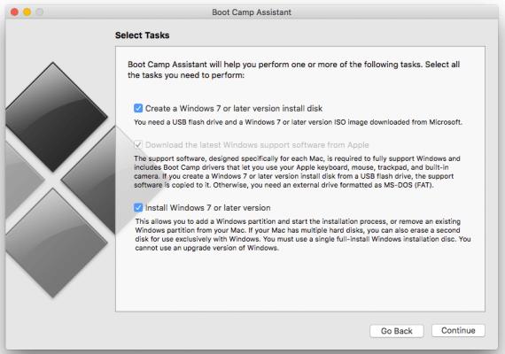 Menginstal Dual-boot Windows dan Apple Mac pada Mac Laptop dengan mudah, menggunakan Windows 10, Windows 8 dan juga bisa untuk Windows 7, menggunakan aplikasi boot Boot Camp Assistant