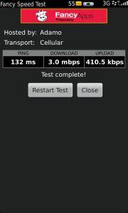BlackBerry Torch 9860 - Test velocidad
