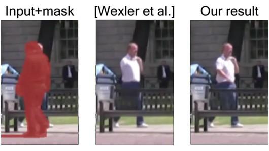 Comparación algoritmos de eliminación de personas en vídeos