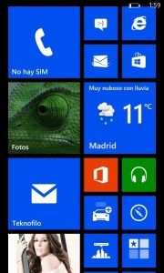 Nokia Lumia 820 - Interfaz de Windows Phone 8