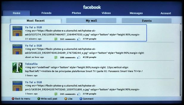 App Facebook para Philips Smart TV