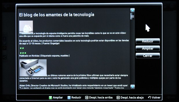 Samsung Smart TV Navegador